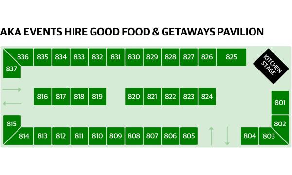 AKA Events Hire Good Food & Getaways Pavilion Map