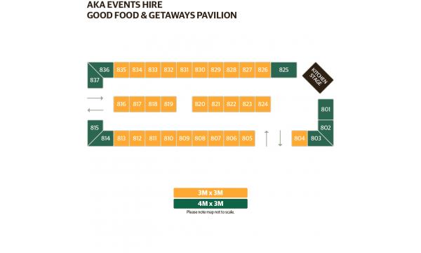 Good Food & Getaways Pavilion Map